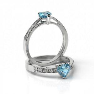 Zásnubný prsteň s diamantom ZP 705