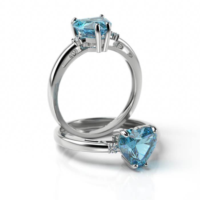 Zásnubný prsteň s diamantom ZP 707