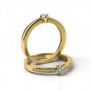 Zásnubný prsteň s diamantom ZP 708