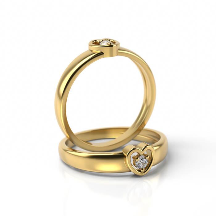 Zásnubný prsteň s diamantom ZP 710