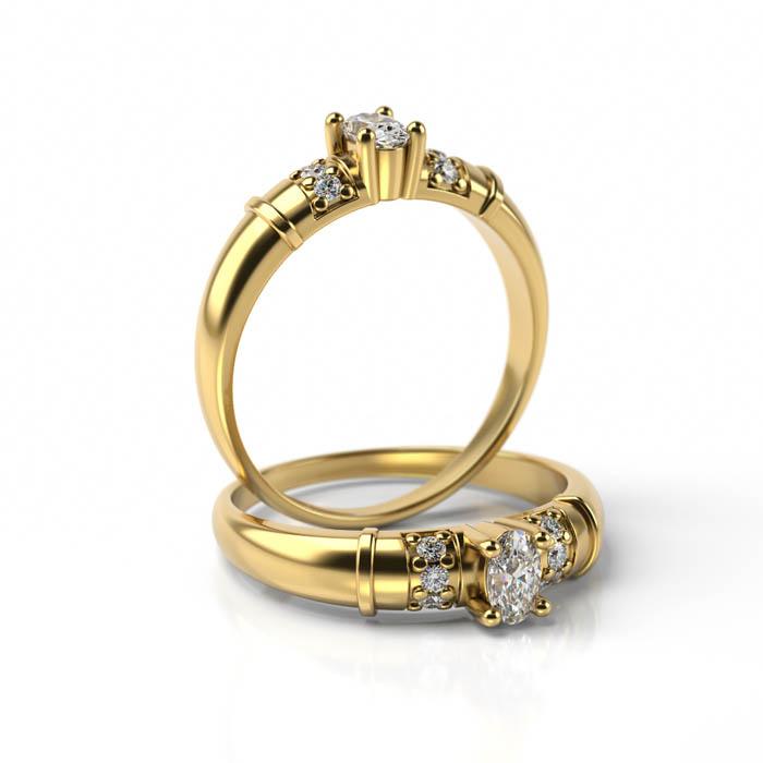 Zásnubný prsteň so zirkónom ZP 4001