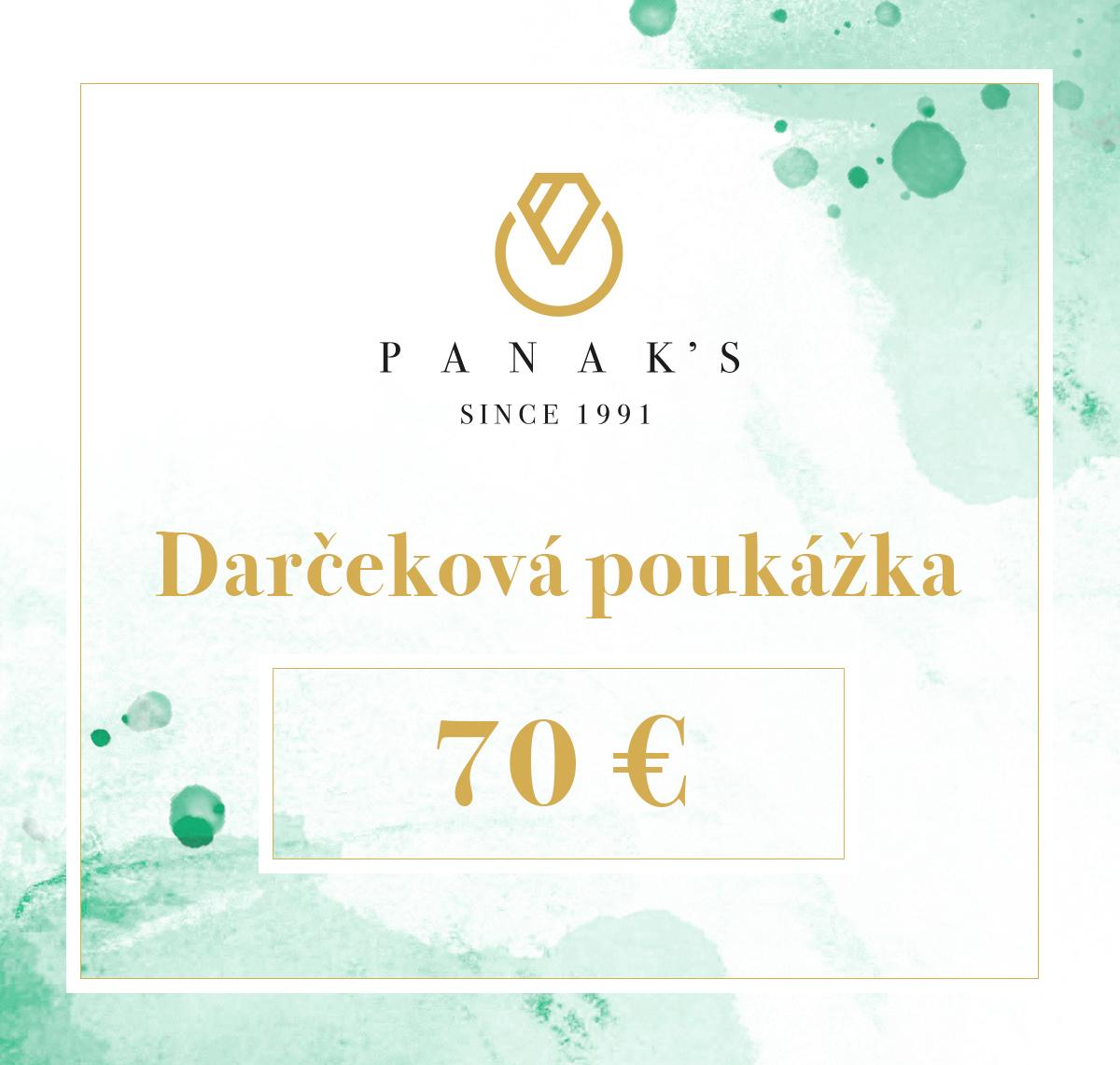 darčeková poukážka 70 EUR